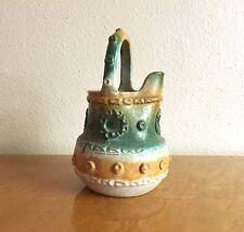 Vintage Fratelli Fanciullacci Teal & Orange Pottery Jug Vase, 1960 Italy 3 of 4