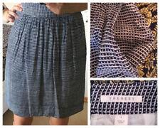 Above Knee Viscose Plaids & Checks Regular Size Skirts for Women