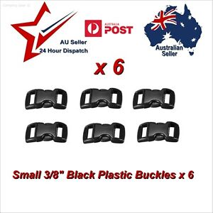 """6 x Small 3/8"""" Buckles for Paracord Projects para cord bracelet 10mm buckle clip"""