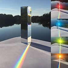 """One 3.15"""" Optical Glass Physics Experiment Triple Triangular Prism Refractor 8cm"""