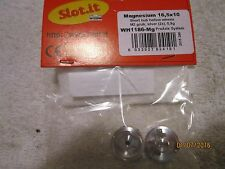 SLOT-IT SLOT CAR MAGNESIUM SHORT HUB HOLLOW WHEELS 16.5X10