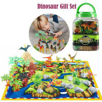 48Pcs Large Dinosaur Set Playset Animal Action Figures Toys Kids Best Gift TH