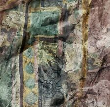 1 AWESOME CROSCILL BENETELLO Pastels Sheet Scarf Window Scarve VALANCE