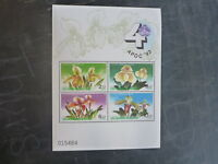 1992 THAILAND APOC ORCHIDS 4 STAMP MINI SHEET MNH IMPERF #4