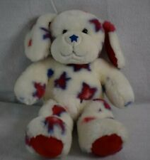 Build A Bear Stars Patriotic Red White Blue Puppy