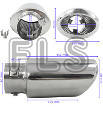 UNIVERSAL STAINLESS STEEL EXHAUST TAILPIPE 60MM INLET YFX-0357  VXL1