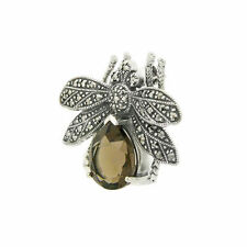 Marcasite Not Enhanced Fine Brooches