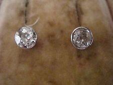 Edwardian 18CT Diamante Corte Brillante Antiguo pendientes 1.50ct