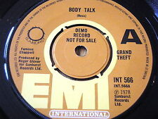 "GRAND THEFT - BODY TALK      7"" VINYL DEMO"