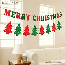 Lot of 4: Merry Christmas Hanging Banner Party Tree Socks Reindeer Wall Decor