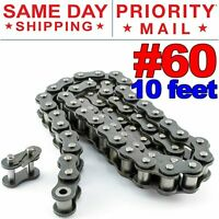 #60 Roller Chain x 10 feet + Free Connecting Link + Same Day Expedited Shipping