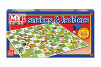 Snakes and Ladders Traditional Childrens Board Game NEW Kids Toy