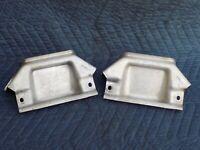 FRONT Mono Leaf Spring Retainer Bracket Cover Support Pair 1989 OEM C4 Corvette