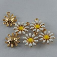 50992 Multi Color Alloy Sun Flower Enamel Charms Pendants Findings Jewelry 20x