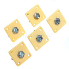 5 Pcs Guitar Parts Square Ivory Plate Output Jack For Electric Parts