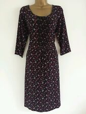 NEW M&Co PLUS SIZE 20 22 24 Floral Print Pleated Midi Shift Tea Dress Black