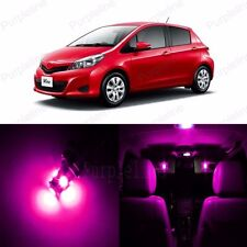 8 x Ultra Pink LED Interior Lights Package Kit For Toyota Yaris 2012 - 2014