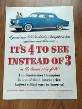 1951 Studebaker Champion Commander V-8 Sedan Ad