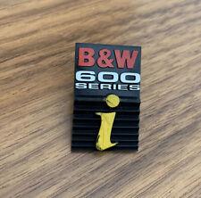 More details for bowers wilkins b&w dm600i series bb01368 speaker box cabinet grille badge se1