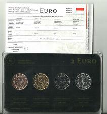 4x 2 Euro Edelmetall Münzsatz Monaco 2 Euro Rotgold, Gelbgold Platin Ruthenium