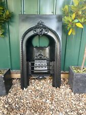 More details for a rare early victorian antique cast iron hob grate insert fireplace circa 1860