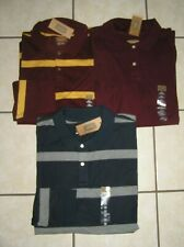 NWT $120 Lot of 3 Mens Big & Tall Foundry Sueded L/S  Polo Shirts Sz 2XL