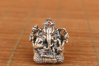 Used 24g chinese 925 Silver Handmade elephant staue ring noble gift