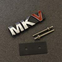 MKV Car Chrome Red Grill Emblem Badge Decal Sticker MK5 Mark 5 Logo Grille VW G*