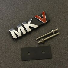 MKV Car Chrome Red Grill Emblem Badge Decal Sticker MK5 Mark 5 Logo Grille VW G*
