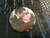 VINTAGE PROMO PINBACK BUTTON #130-012 movie GONE WITH THE WIND type 2