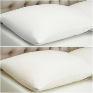 Warm in Winter & Cool in Summer 100% Combed Cotton Jersey Pillow cases Pair Pack