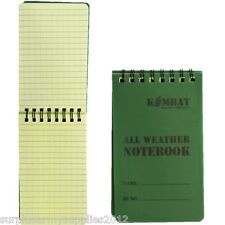Mini Notepad Waterproof Paper 50 Page Pocket Size Notebook Army Cadet Outdoors