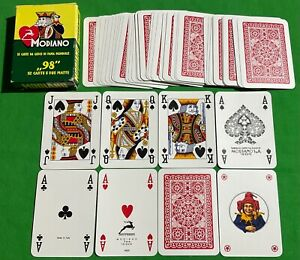 Old Vintage Italian * MODIANO POKER No. 98 * Wide Pack Deck Playing Cards - mint