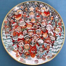 FRANKLIN MINT SANTA CLAWS CHRISTMAS CATS BILL BELL LIMITED ED PORCELAIN PLATE