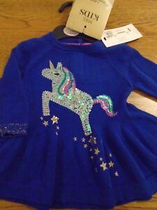BNWT baby girl sequin unicorn dress & tights. M&S. RRP £20. 3-6mths        (2/1)