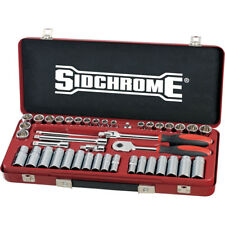 """Sidchrome 43pce 3/8"""" Socket Set - Metric & AF - SCMT13107"""