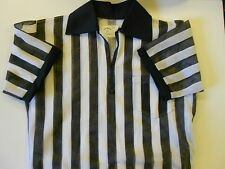 "NOS Vtg '80's Ranger Mesh Referee Jersey Shirt Sz Med 42"" Chest Black White USA"