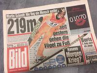 Bildzeitung vom 20.03.1999 * 19. 20. 21. Geburtstag Geschenk  * Martin Schmitt