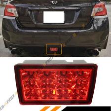 FOR 2011-17 SUBARU WRX STi REAR LOWER BUMPER LED FOG LIGHT BRAKE LAMP RED LENS
