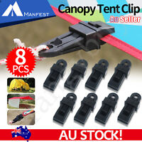 8 Pcs/Set Awning Tent Clamp Tarp Clips Camping Plastic Canopy Buckle Heavy Duty