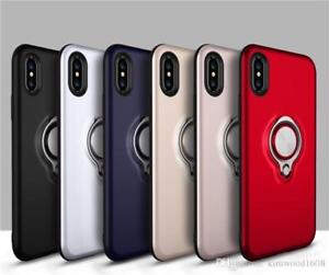 Hybrid Ring Armor Case 360 Ring Stand Holder Magnetic Cover For iPhone 7 XR X Xs