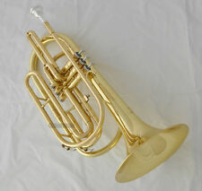 Professional Gold Marching Trombone B-Flat Horn With Case