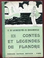 CONTES ET LEGENDES DE FLANDRE. NATHAN. 1933.