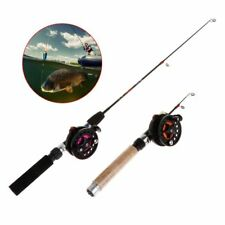 Fishing Rod With Ultra Reel Short Mini Winter Ice Fishing EVA Handle 4B/3B Reels