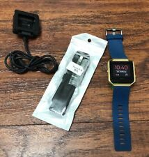 Fitbit Blaze Watch Fitness Small/large Band Blue / Black Band Charger Vguc