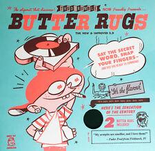 """Qbert Butter Rugs Version 3.0 7"""" Slipmats (Black, pair) DJ Portable Scratch"""