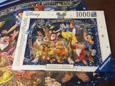Ravensburger 1000 Piece Disney Jigsaw. Snow White & 7 dwarves. Collectors Editio