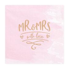 Servietten 'Mr& Mrs - with love - rosa gold (20 Stück) Hochzeit Vintage Boho