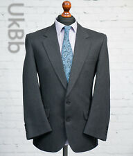 Centaur Vintage Grey Striped Wool Suit Jacket Single Breasted 40S