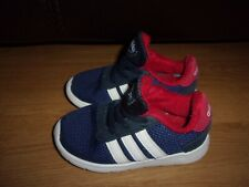Adidas Little Racer Blue & White slip on boys trainers size 7
